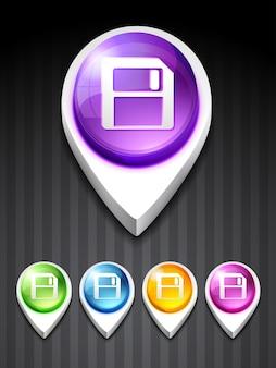 Ícone de disquete de vetor design arte