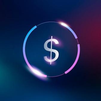 Ícone de dólar símbolo de moeda de dinheiro