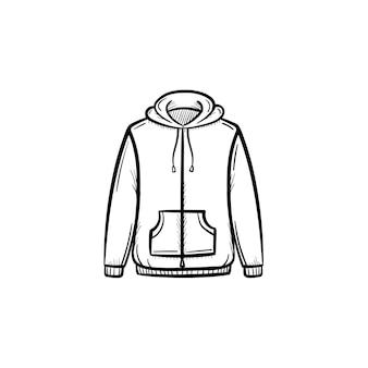 Ícone de doodle de contorno de camisola desenhada de mão vector. ilustração do esboço da camisola para impressão, web, mobile e infográficos isolados no fundo branco.