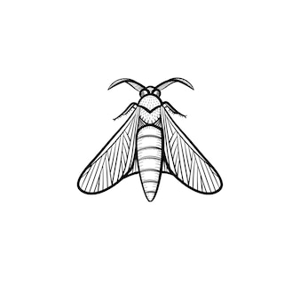 Ícone de doodle de contorno de gafanhoto de vetor mão desenhada. locust sketch ilustração para impressão, web, mobile e infográficos isolados no fundo branco.