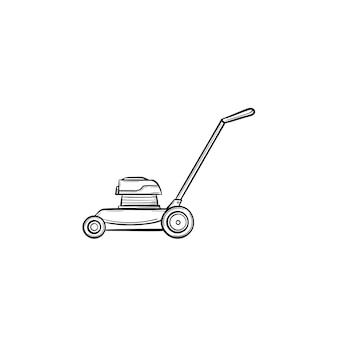Ícone de doodle de contorno de motor desenhado de mão vetorial. ilustração do esboço do motor para impressão, web, mobile e infográficos isolados no fundo branco.