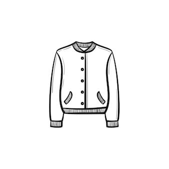 Ícone de doodle de contorno de vestuário vetorial mão desenhada. ilustração de esboço de vestuário para impressão, web, mobile e infográficos isolados no fundo branco.