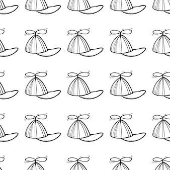 Ícone de doodle handdrawn criança padrão sem emenda. esboço preto desenhado de mão. sinal de símbolo dos desenhos animados. elemento de decoração. fundo branco. isolado. design plano. ilustração vetorial.