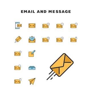 Ícone de e-mail e mensagem