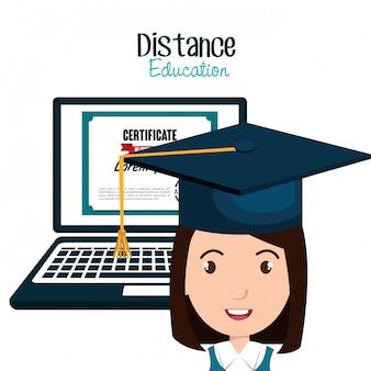 Ícone de educação de elearning de estudante