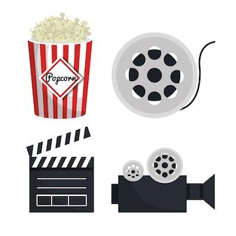 Ícone de elementos de entretenimento de filme