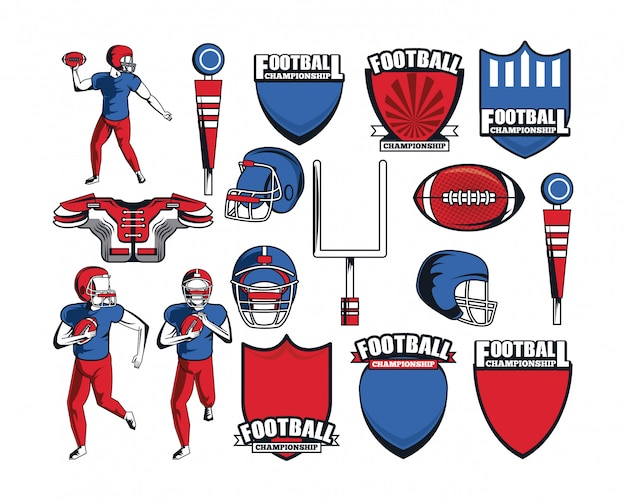 Ícone de elementos de futebol