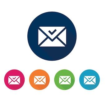 Ícone de email e símbolo de comunicação.