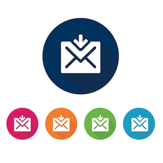 Ícone de email. símbolo de comunicação