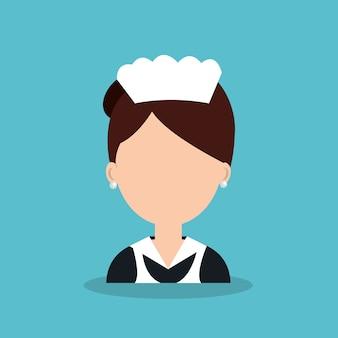 Ícone de empregada de trabalhador de hotel