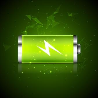 Ícone de energia de energia de carga da bateria. projeto de recarga de bateria vetorial