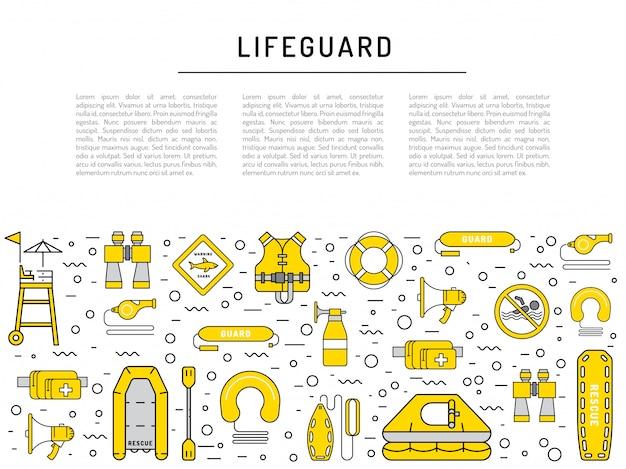 Ícone de equipamento de salva-vidas