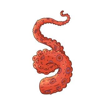 Ícone de esboço de tentáculo de polvo ou lula