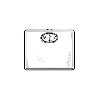 Ícone de esboço desenhado à mão de escalas