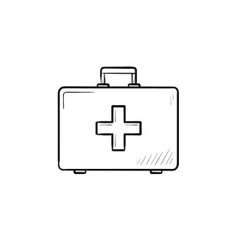 Ícone de esboço desenhado à mão para kit de primeiros socorros