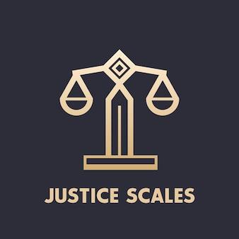 Ícone de escalas, elemento de logotipo de escritório de advocacia