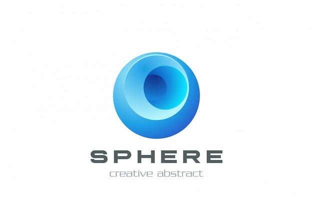 Ícone de esfera logotipo.