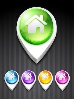 Ícone de estilo de casa de vetores 3d