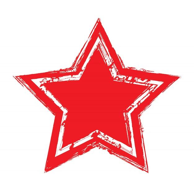 Ícone de estrela vermelha grunge