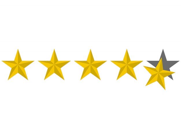 Ícone de estrelas de avaliação