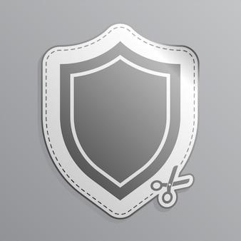 Ícone de etiqueta do escudo