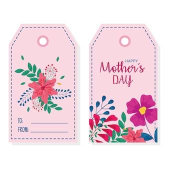 Ícone de etiquetas do feliz dia das mães