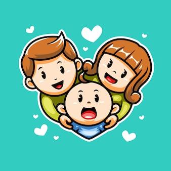 Ícone de família feliz