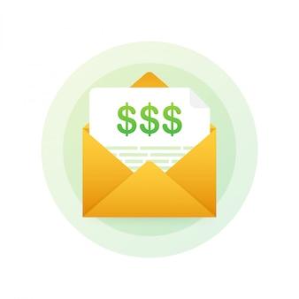 Ícone de fatura em estilo de linha plana. negócios ou sinal de operações financeiras. faturas de pagamento e cobrança.