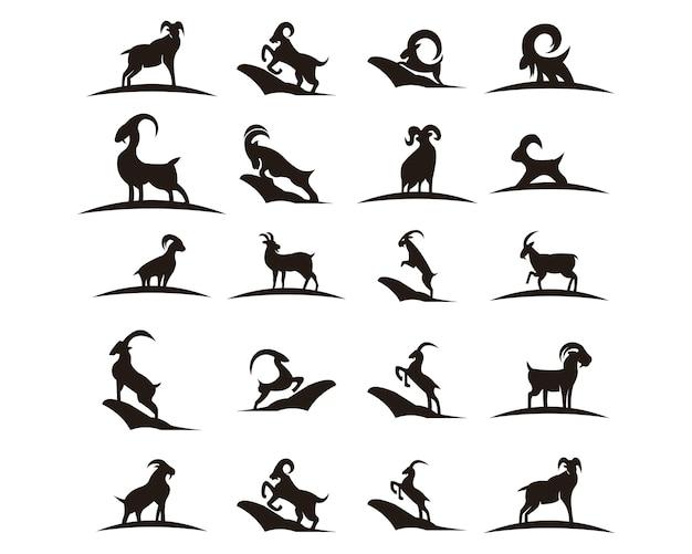 Ícone de fazenda animal de cabra