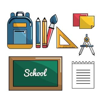 Ícone de ferramentas de escola de cor