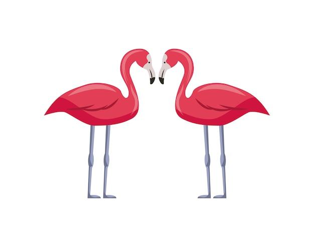 Ícone de flamingos cor de rosa