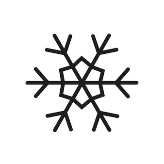 Ícone de floco de neve simples. ilustração do vetor de natal.