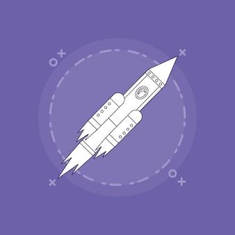 Ícone de foguete spae