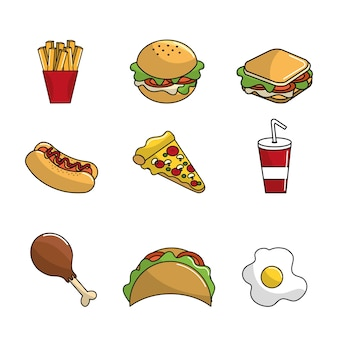 Ícone de fundo de fast-food