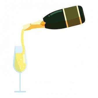 Ícone de garrafa de champanhe
