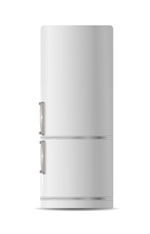 Ícone de geladeira retrô. ilustração plana de geladeira retrô