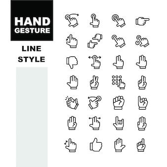 Ícone de gesto de mão