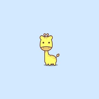 Ícone de girafa bonito dos desenhos animados