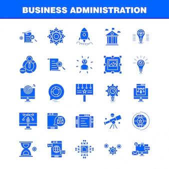Ícone de glifo de administração de negócios