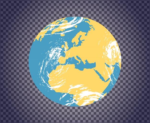 Ícone de globo com mapa