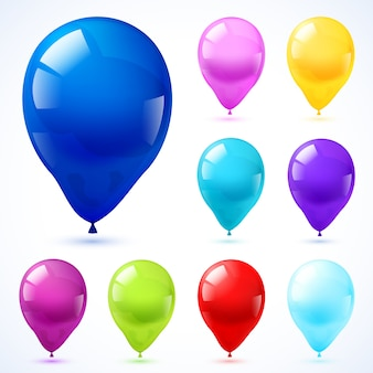 Ícone de globos de cores configurado