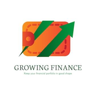 Ícone de gradiente plano de carteira digital. pagamento, logotipo de transação de compra. clipart de comércio eletrônico