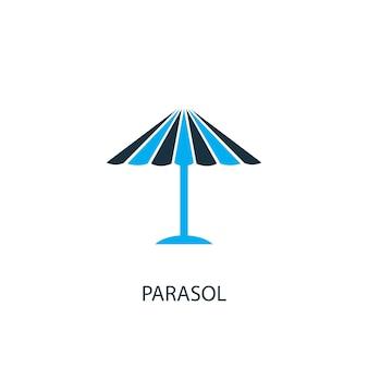 Ícone de guarda-sol. ilustração do elemento do logotipo. desenho de símbolo de guarda-sol da coleção de 2 cores. conceito simples de guarda-sol. pode ser usado na web e no celular.