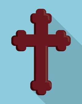Ícone de igreja religião cruz madeira