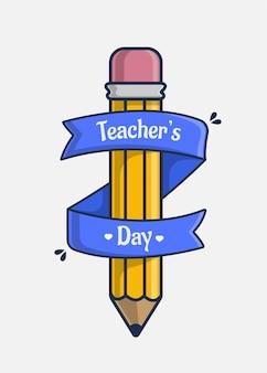 Ícone de ilustração com feliz dia dos professores