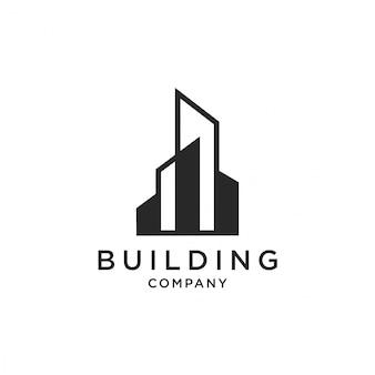 Ícone de ilustração de vetor logotipo de edifício