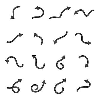 Ícone de ilustração vetorial de seta design de modelo de logotipo