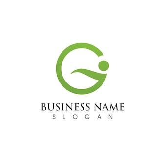 Ícone de ilustração vetorial letra g design de modelo de logotipo