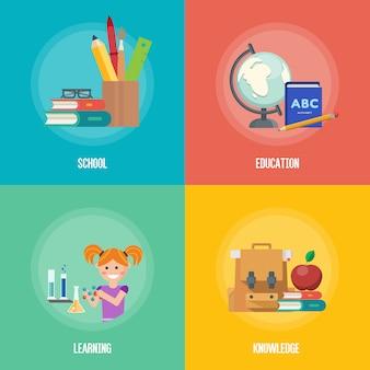 Ícone de infográficos de educação