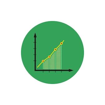 Ícone de infográficos redondos coloridos, ícone de gráfico, ilustração vetorial